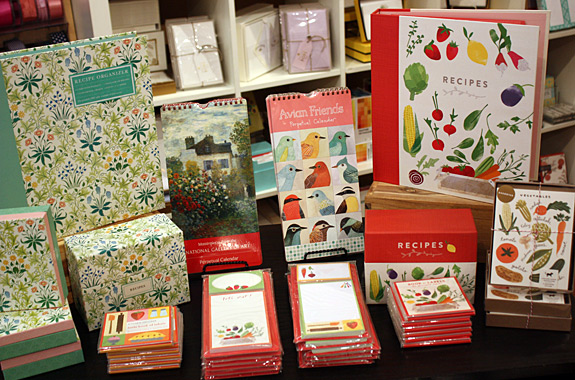 Recipe organizers, recipe  boxes, magnetic pads and perpetual calendars from Galison New York