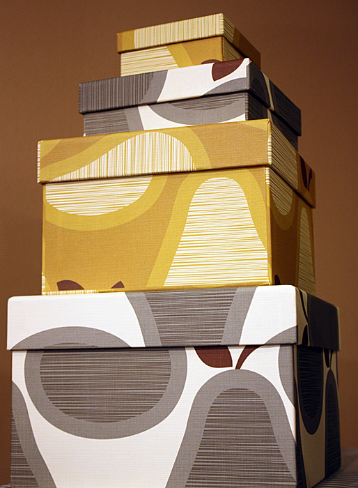Pear nesting boxes from Orla Kiely