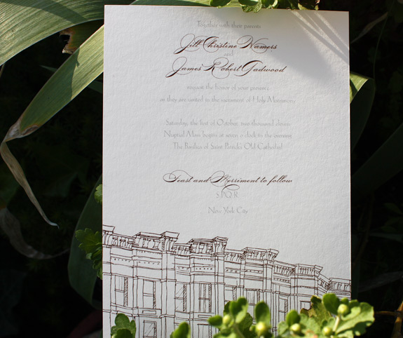 Jill and James: Third Street, invitation