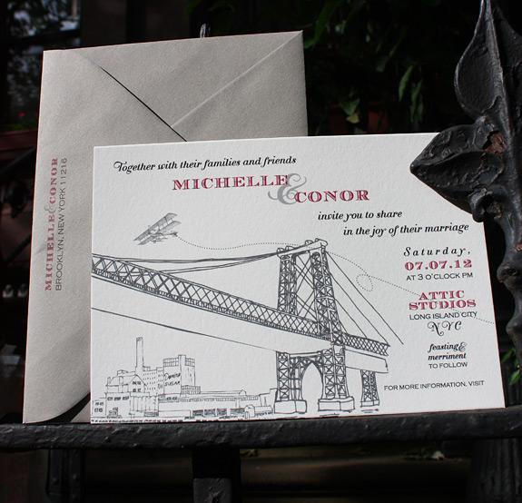 Michelle and Conor: Bedford invitation