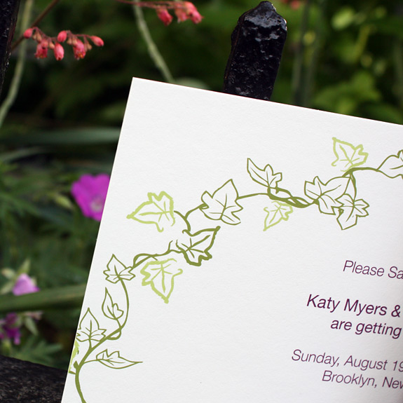 Katy and Poy: Foundry save the date detail