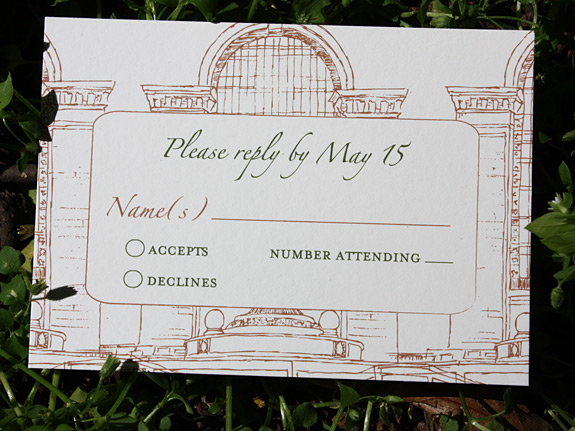 Leticia and Amir: Grand Central Station reply card