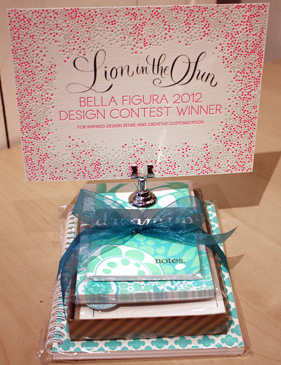 Bella Figura design contest winner 2012