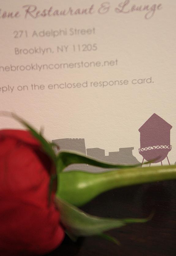 Lisa and Samuel: Montague Street - Apt. W, rehearsal dinner card
