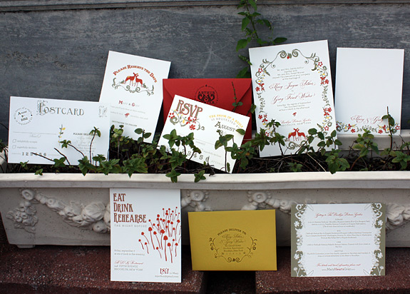 The Ramble: wedding invitation suite, save the date, thank you card