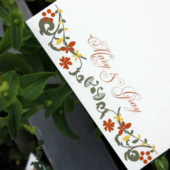 The Ramble: thank you card