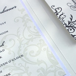 Allison and Adam: letterpressed in 2 colors with metallic pocket folder