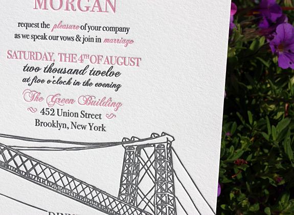 Elizabeth and Nicholas: Bedford, wedding invitation detail