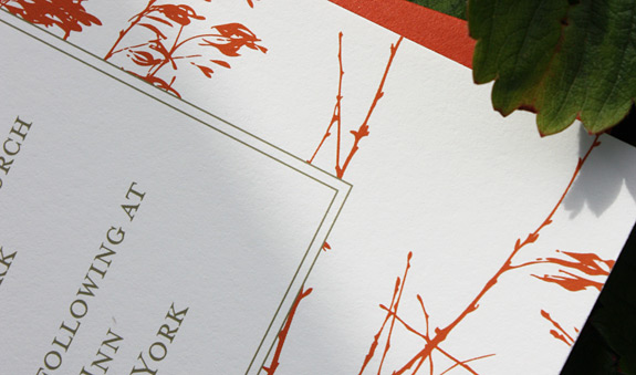 Barbara and Lois: Central Park, wedding invitation detail