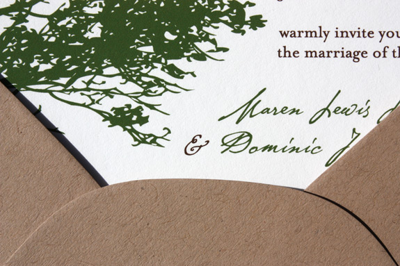 Karen and Dominic: invitation detail