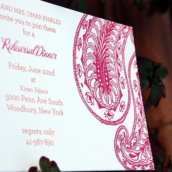Reception card: Park Avenue South