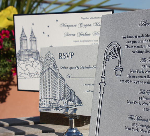 Margaret and Steven: San Remo invite, reply card and accommodations card