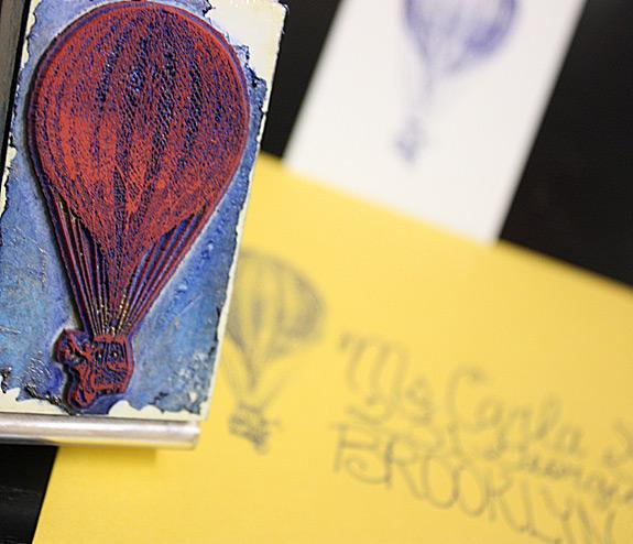 PostScript Brooklyn Vinegar Hill Rubber Stamp