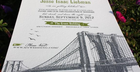 Kimiye and Jesse: invitation detail