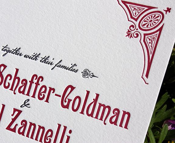 Regina and Paul: invitation detail