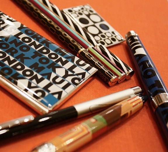 Designs supreme: Acme pens, mechanical pencils, business card cases and money clips