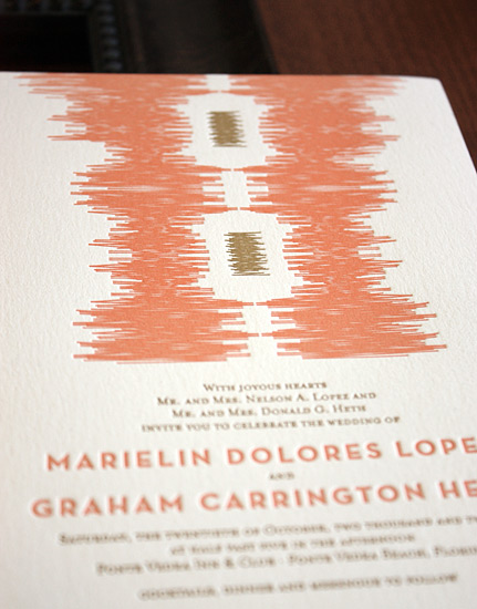 Marielin and Graham: invitation