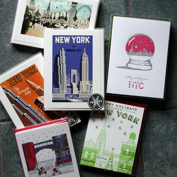 NYC themed holiday cards