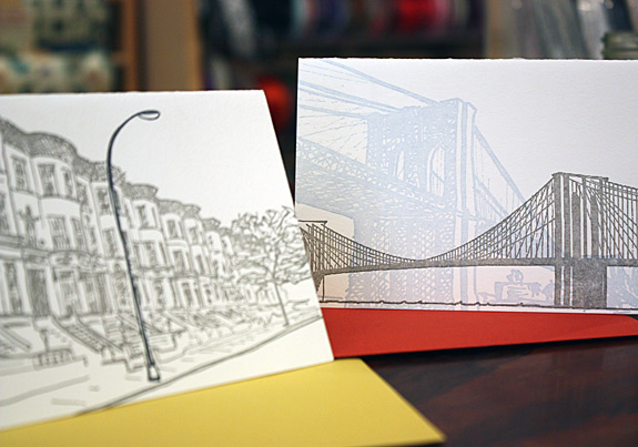 Note Cards: Letterpressed Brooklyn Note Cards