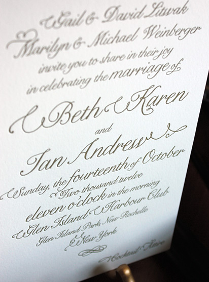 Beth and Ian: wedding invitation