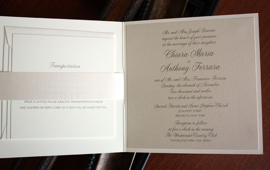 Chiara and Anthony: inside invitation
