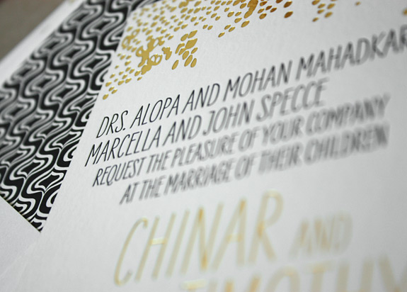 Chinar and Timothy: invitation detail