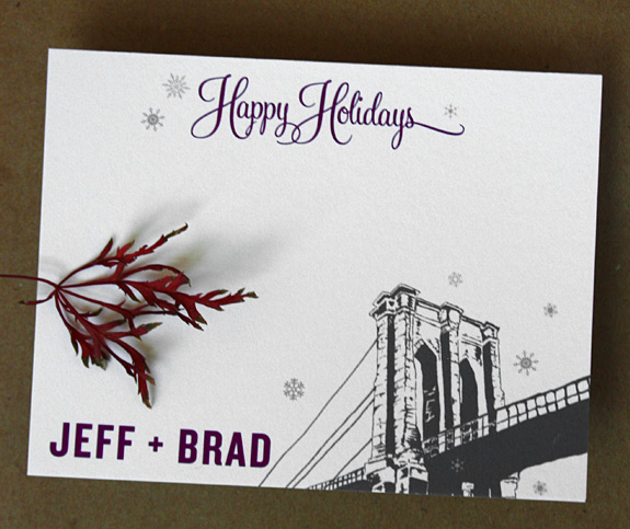Jeffrey and Bradley: Front Street holiday card / thank you note