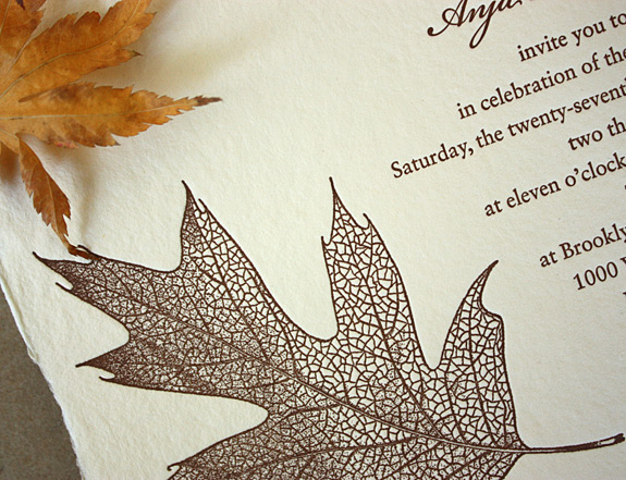 Kellye and Anja: invitation detail