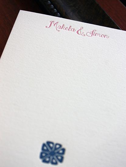 Makeba and Simon: thank you card