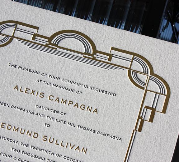 Alexis and Edmund: Letterpress Art-Deco Details