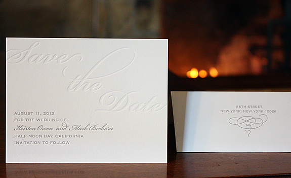 Kristen and Mark: letterpress save the date