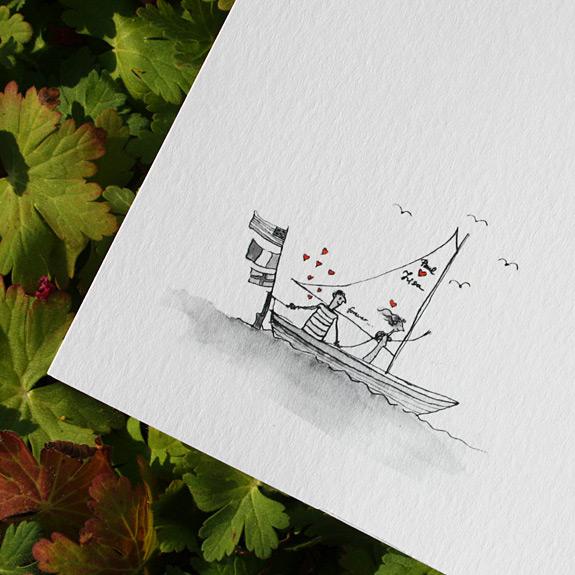 Lisa and Paul: Custom Illustration