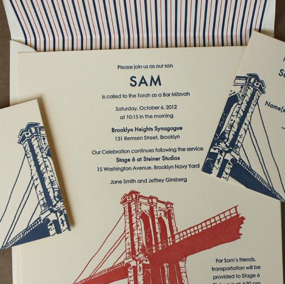 Sam: Bar Mitzvah invitation