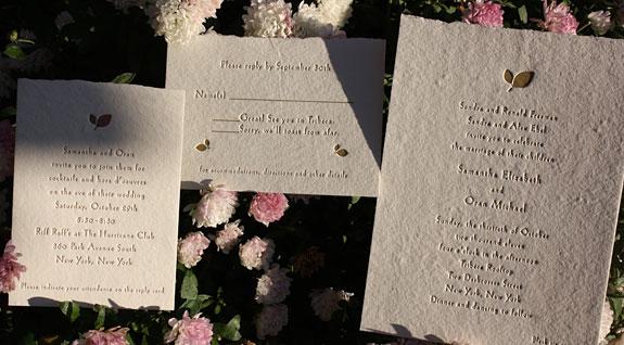 Samantha and Oran: wedding invitation suite