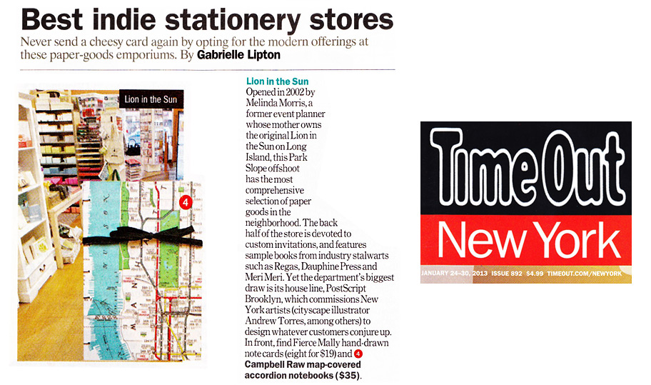 Time Out New York: Best Indie Stationery Stores