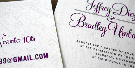 Jeffrey and Bradley: Liberty View invitation and RSVP