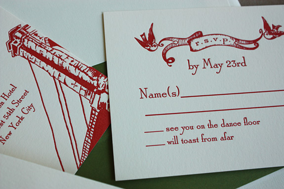 Keren and Philippe: RSVP  and enclosure card