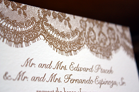 Caitlin and Fernando: Sutton Place, wedding invitation