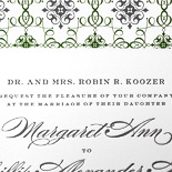 Margaret and Phillip: 1 color letterpress with patterned liner