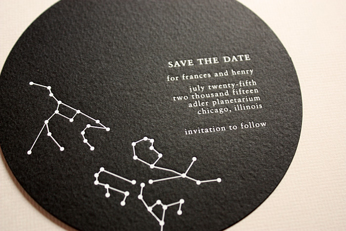 """Oblation Papers & Press's """"Constellation"""" Save the Date"""
