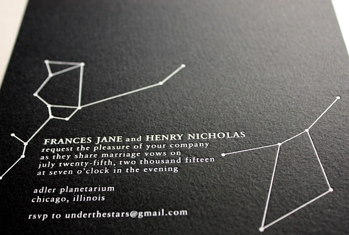 """Oblation Papers & Press's """"Constellation"""" Invitation"""