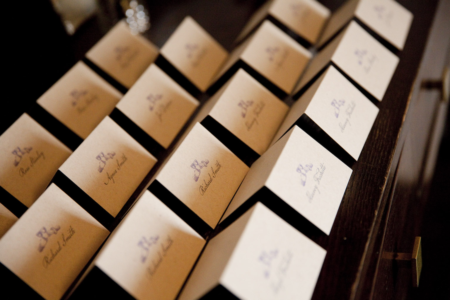 Escort Cards: The Green Building Photoshoot