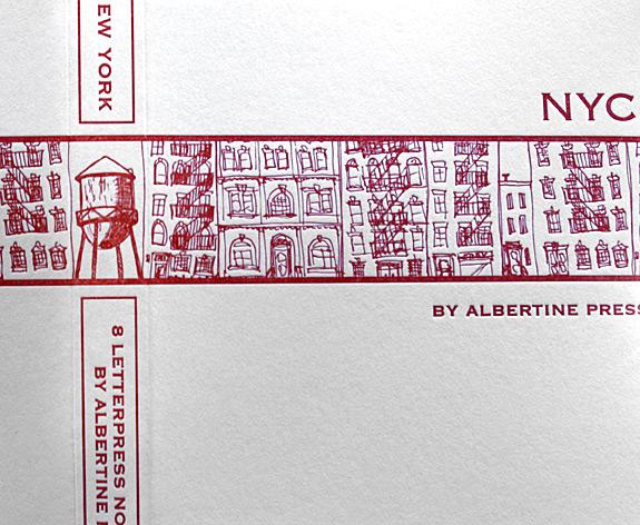 Albertine Press's NYC Notecards