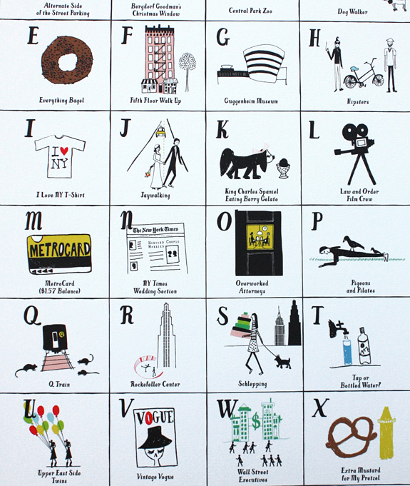 Mr. Boddington's NYC alphabet poster