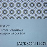 Jackson: Bar Mitzvah invitation with layered card and concentric ring liner