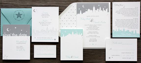 Hudson Street: wedding invitation suite from PostScript Brooklyn