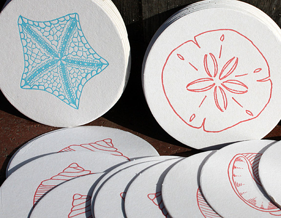 Coaster collections from Haute Papier: nautical