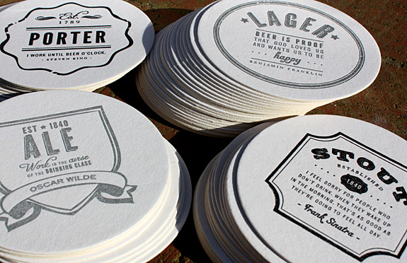 Coaster collections from Haute Papier: beer