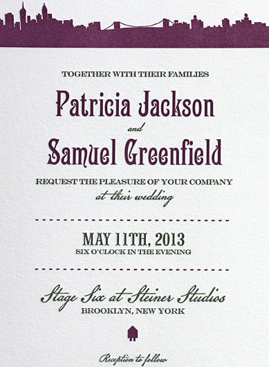 Patricia and Samuel: Riverside Drive from PostScript Brooklyn, letterpressed in 2 colors