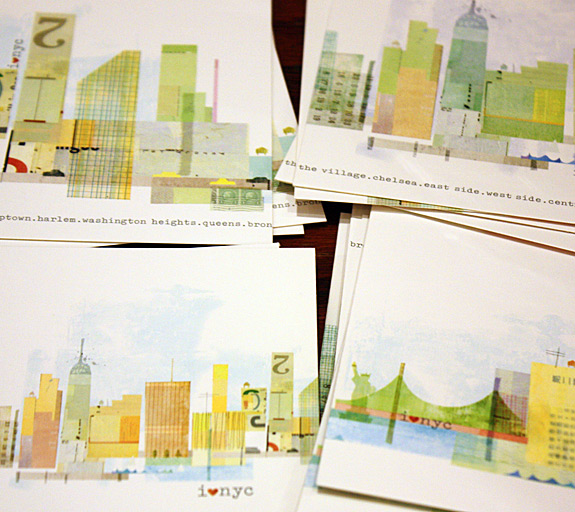 Boxed notes featuring NYC illustrations by Maria Carluccio